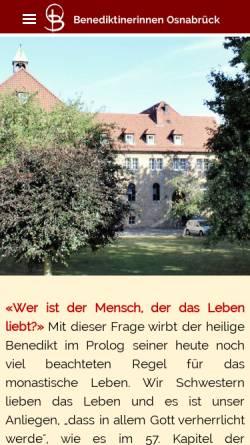 Vorschau der mobilen Webseite www.osb-os.de, Benediktinerinnen vom Heiligsten Sakrament, Osnabrück