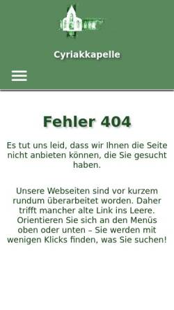 Vorschau der mobilen Webseite www.boer-ste.de, Cyriakkapelle