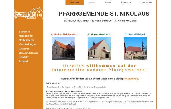 Vorschau von www.melchendorf.de, Gemeinde St. Nikolaus, Erfurt-Melchendorf