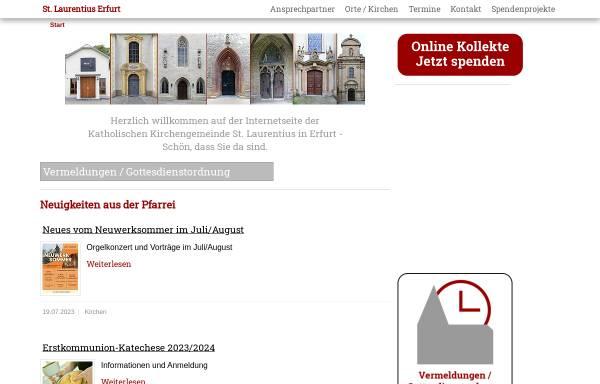 Vorschau von www.schotten-erfurt.de, Katholisches Pfarramt St. Nicolai und Jacobi