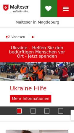 Vorschau der mobilen Webseite www.malteser-magdeburg.de, Diözese Magdeburg