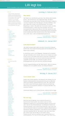 Vorschau der mobilen Webseite laufnotizen.twoday.net, Lilli legt los