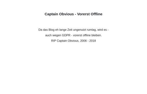 Vorschau von captain-obvious.de, May, David