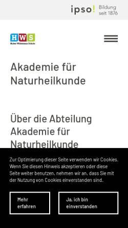 Vorschau der mobilen Webseite www.homoeopathie-basel.ch, Carola Arndt - Praxis für Klassische Homöopathie