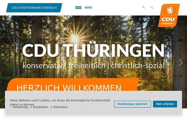 Vorschau von www.cdu-eisenach.de, CDU Eisenach