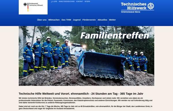 Vorschau von www.thw-gera.de, THW-Ortsverband Gera