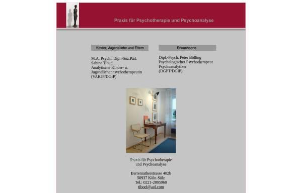 Vorschau von www.praxis-tiboel.de, Dipl.-Soz.Päd. Sabine Tibud & Dipl.-Psych. Peter Bölling