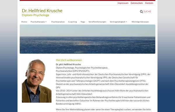 Vorschau von www.hellfried-krusche.de, Dr. Hellfried Krusche, Diplom-Psychologe
