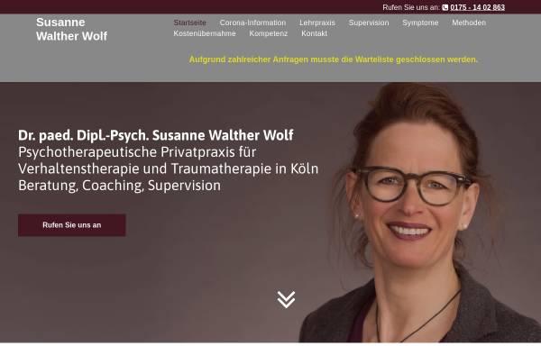 Vorschau von www.psychotherapie-waltherwolf.de, Dr. paed. Dipl.-Psych. Susanne Walther Wolf,