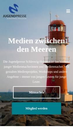 Vorschau der mobilen Webseite www.jugendpresse-sh.de, Jugendpresse Schleswig-Holstein e.V.