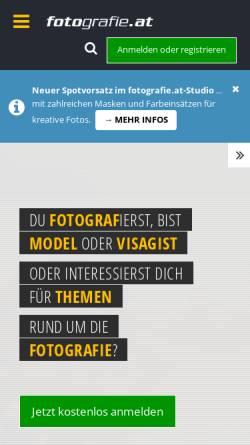 Vorschau der mobilen Webseite fotografie.at, fotografie.at