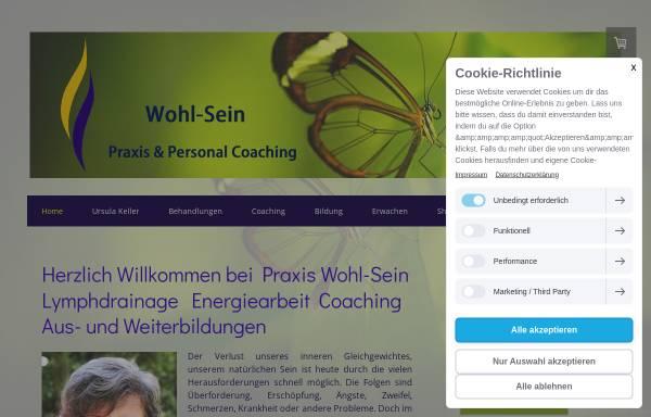 Vorschau von www.wohl-sein.ch, Wohlbefinden und Bewusstsein