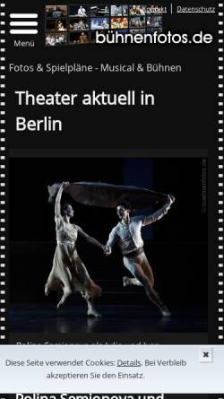 Vorschau der mobilen Webseite www.buehnenfotos.de, Frank Straub