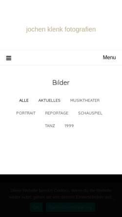 Vorschau der mobilen Webseite www.jochen-klenk.de, Jochen Klenk