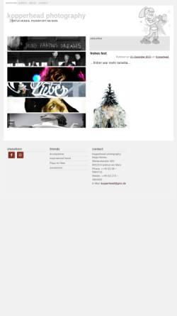 Vorschau der mobilen Webseite www.kopperhead.de, Kopperhead Photography - Katja Ostermeyer