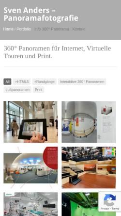 Vorschau der mobilen Webseite www.vr360.de, Sven Anders