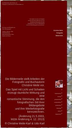 Vorschau der mobilen Webseite www.bildermeile.de, Christine Meile