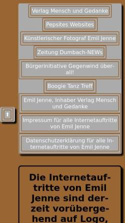 Vorschau der mobilen Webseite www.fotograf-jenne.de, Jenne, Emil