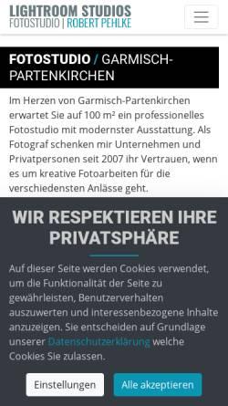 Vorschau der mobilen Webseite www.lightroom-studios.de, Lightroom-Studios