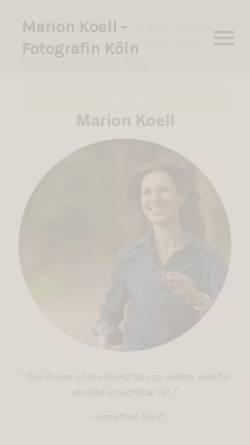 Vorschau der mobilen Webseite www.marionkoell.com, Marion Koell