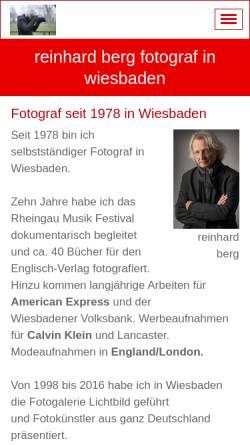 Vorschau der mobilen Webseite www.reinhard-berg.de, Reinhard Berg - Fotografie und Konzeption