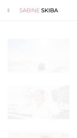 Vorschau der mobilen Webseite www.sabine-skiba.com, Sabine Skiba