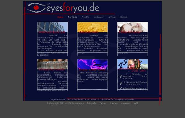 Vorschau von www.eyesforyou.de, Sigrid Chapman - eyesforyou.de