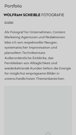 Vorschau der mobilen Webseite www.scheible.de, Wolfram Scheible