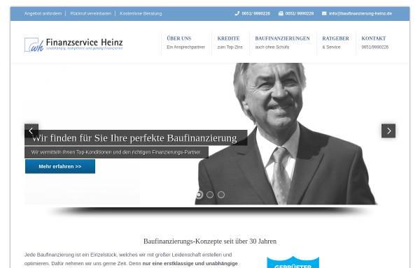 Vorschau von www.baufinanzierung-heinz.de, Werner Heinz - Finanzdienstleistungen