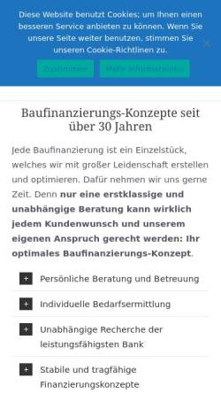 Vorschau der mobilen Webseite www.baufinanzierung-heinz.de, Werner Heinz - Finanzdienstleistungen