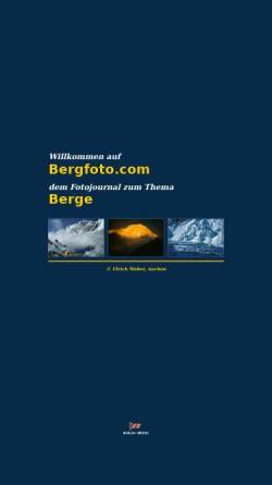 Vorschau der mobilen Webseite www.bergfoto.com, Bergfoto.com - Ulrich Weber