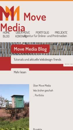 Vorschau der mobilen Webseite www.move-images.de, Bildagentur move images
