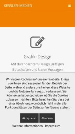 Vorschau der mobilen Webseite kessler-medien.de, Kessler-Medien