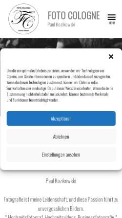 Vorschau der mobilen Webseite www.koeln-fotodesign.de, Koeln-Fotodesign