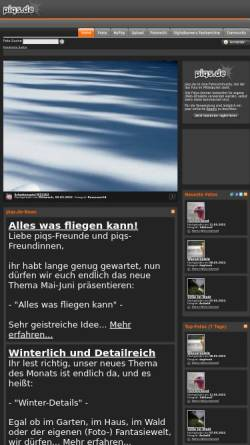 Vorschau der mobilen Webseite www.piqs.de, piqs.de