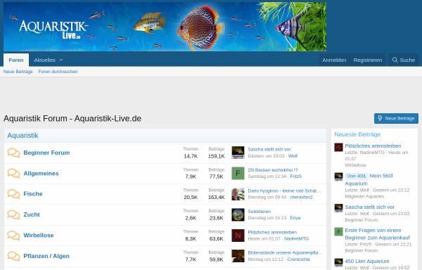 Vorschau von www.aquaristik-live.de, Aquaristik Forum
