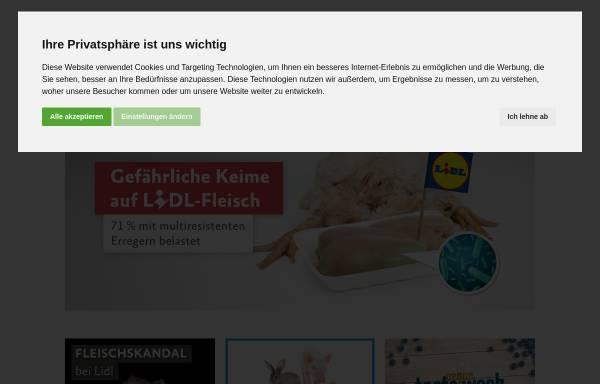 Vorschau von albert-schweitzer-stiftung.de, Albert Schweitzer Stiftung für unsere Mitwelt