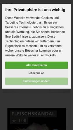 Vorschau der mobilen Webseite albert-schweitzer-stiftung.de, Albert Schweitzer Stiftung für unsere Mitwelt