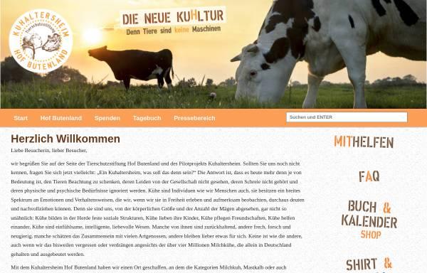 Vorschau von www.tierschutz-stiftung.org, Tierschutz Stiftung Hof Butenland