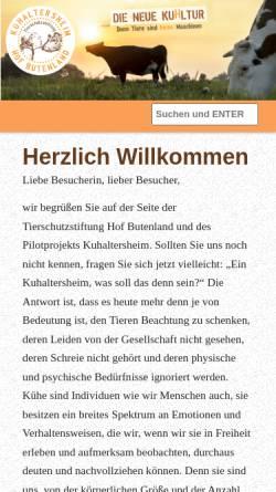 Vorschau der mobilen Webseite www.tierschutz-stiftung.org, Tierschutz Stiftung Hof Butenland