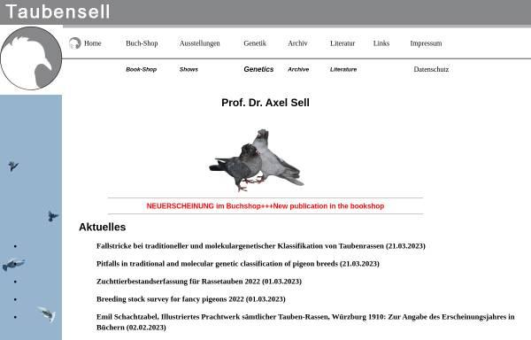 Vorschau von www.taubensell.de, Genetik bei Tauben