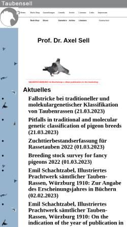 Vorschau der mobilen Webseite www.taubensell.de, Genetik bei Tauben