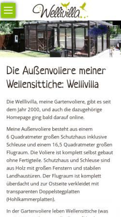 Vorschau der mobilen Webseite www.wellivilla.de, Wellivilla