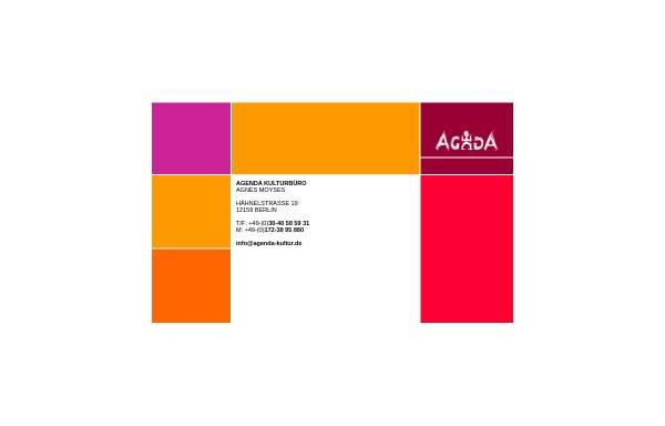 Vorschau von www.agenda-kultur.de, Agenda Kulturbüro