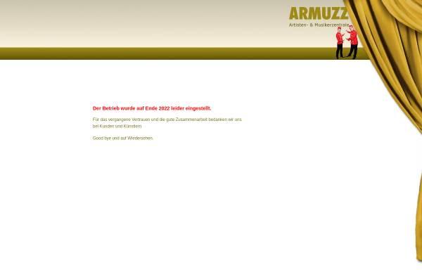 Vorschau von www.armuzz.ch, Artisten- & Musiker-Zentrale Zürich