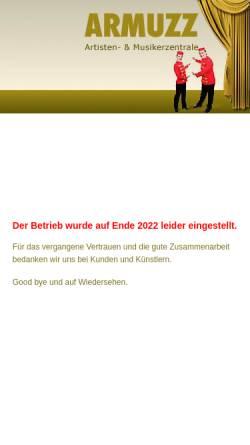 Vorschau der mobilen Webseite www.armuzz.ch, Artisten- & Musiker-Zentrale Zürich