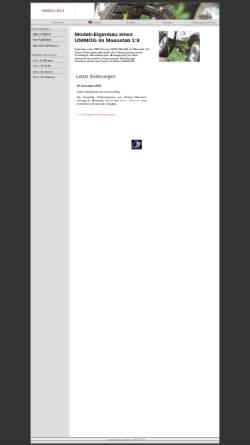 Vorschau der mobilen Webseite www.makau.ch, Modell-Unimog