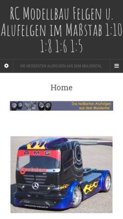 Vorschau der mobilen Webseite modellbausieghard.de, RC Modellbau Alu-Felgen