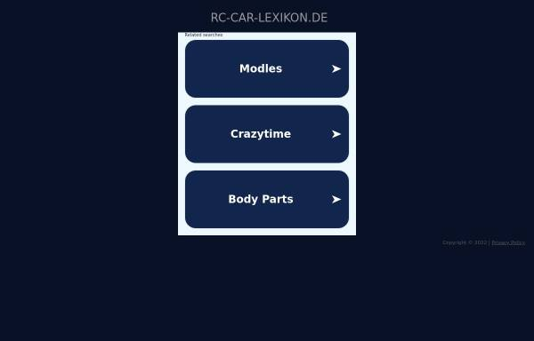 Vorschau von www.rc-car-lexikon.de, RC-CAR-Lexikon