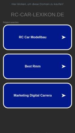 Vorschau der mobilen Webseite www.rc-car-lexikon.de, RC-CAR-Lexikon